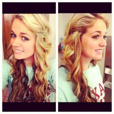 Hairstyle for prom homecoming wedding curly idea for long hair