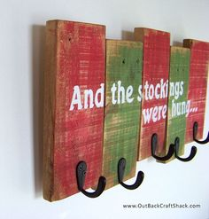 Christmas Stocking Holder Rustic Christmas by OutBackCraftShack
