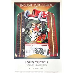For those looking for something rare, exclusive and vintage to put up on your wall as art piece, this #vintage archival poster (yes, archived by the National Archives of Singapore!) designed by the artist #Razzia is definitely a #collectorsitem. . . It's the actual promotional poster issued for the first and only #LouisVuitton Vintage Equator Run, co-sponsored by #TheRafflesHotel, Singapore…