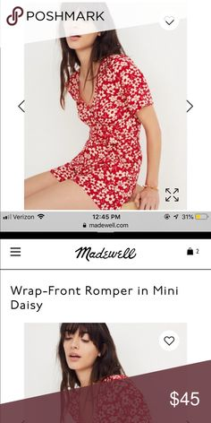 56351fd7b9ea Madewell Floral Romper A waist-defining romper that can be tied to the  front or