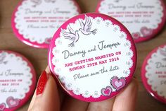TWO HEARTS design Save the Date Magnets by WeddingSavetheDates
