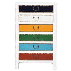 Harlekin White 6 Drawer Cabinet