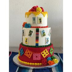 Fiesta Party Centerpieces, Mexican Party Decorations, Fiesta Theme Party, Mexican Themed Cakes, Mexican Fiesta Cake, Mexican Cakes, Cards Diy, Mexican Birthday Parties, 60th Birthday Party