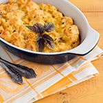 Use the Atkins recipe to make Cali Mac and Cheese to serve with the grilled chicken.Prepare the Cali Mac