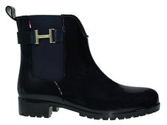 Tommy Hilfiger OLEY 7R | Chelsea Boots - schwarz   #Gummistiefel #rubberboots #fashion #festival