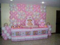 baby shower murals | con 150 globos alquiler de figura principal rellenos luces tul caja de ...