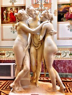 The Three Graces by Canova at The Hermitage
