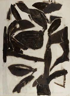 JEAN-PIERRE PINCEMIN SANS TITRE, 1987 Bois gravé réhaussé à l'huile sur