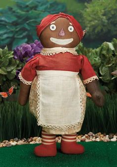 Raised by the Song of the Murmuring Grove: 48 American Cloth Beloved Belindy by Volland,Earliest Painted Face Model