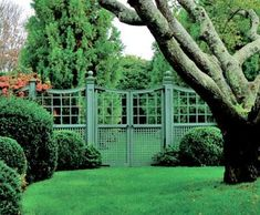 Lattice-over-Lattice Fence and Double Gate | Wood, Solid Cellular PVC, Metal and Hollow Vinyl Fences from Walpole Woodworkers