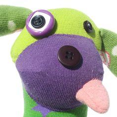 Handmade Upcycled Plush Funny Dog Sock Toy Stuffed by Fuffalumps, $60.00