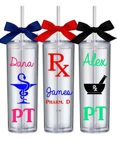 Pharmacy Tumblers, Personalized Tumbler Cups, Pharmacists GIft, Pharmacy Technician Gift, Pharm Tech Gift, Personalized Pharmacy Tumblers