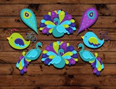 Peacock birthday cupcake toppers, peacock cupcake topper, peacock cake decoration, peacock party accessories on Etsy, $8.00