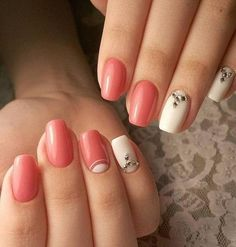 Beautiful delicate nails, Beautiful summer nails, Evening dress nails, Evening nails, Fall nails 2016, Half moonnails with rhinestones, Half-moon nails ideas, Nails with rhinestones