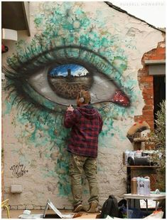 This eye is on a larger scale so you can see into the eye as see the world which it is looking at