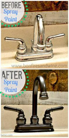 Faucet Face Lift - Spray Paint to the Rescue