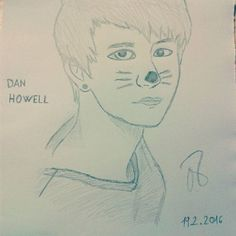 Dan Howell... i like this drawing...hope u like it too.. #danhowell #danisnotonfire #danisacat #kitty #sweet #loveable #fire #drawings #draw #portrait