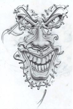 joker face tat2 commission by markfellows.deviantart.com on @deviantART