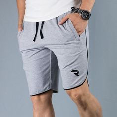 -Shorts REAP Gray /  - Pantaloni scurti REAP Gri Jogging, Gym Men, Gray, Shorts, Fashion, Walking, Moda, Fashion Styles, Fasion