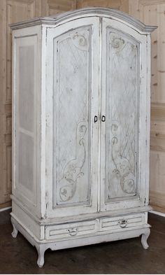 Rustic Dutch Painted Armoire   Antique Country French Armoires   Inessa Stewart's Antiques