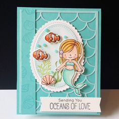 """45 Likes, 5 Comments - DJ (@djrants) on Instagram: """"Card made for my much loved daughter @jennaschlafmann with My Favorite Things BB Mermazing stamps…"""""""