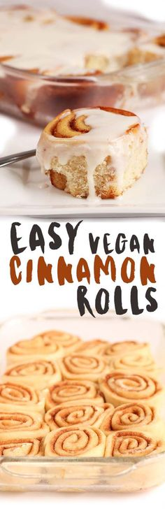Fill up your home with the smell of freshly baked cinnamon rolls with this easy #vegan recipe. Click the photo for the full recipe.