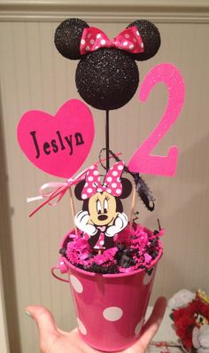Minnie Mouse Party Decoration personalized by eryacah on Etsy, $12.00