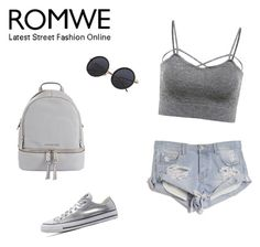 """""""Romwe"""" by minna-998 ❤ liked on Polyvore featuring OneTeaspoon, Converse and MICHAEL Michael Kors"""