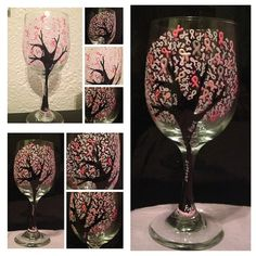 Breast Cancer Awareness Glass by TransparentCup on Etsy  I ❤ THIS!!