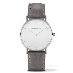 Watch Sailor Line White Sand Stainless Steel Leather Watchstrap Grey
