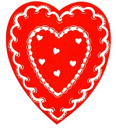 *The Graphics Fairy LLC*: Vintage Valentine's Clip Art - Classic Red and White Heart Homemade Valentines, Valentines Day Party, Valentine Day Crafts, Valentine Heart, Valentine Ideas, Valentine Images, Vintage Valentine Cards, Vintage Greeting Cards, Vintage Postcards