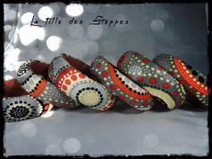 lot de 2 bracelets LA FILLE DES STEPPES - Cuir rouge (pourpre) - tissu…