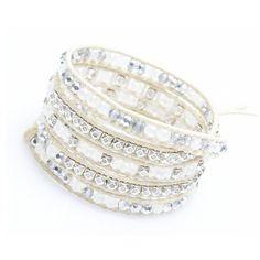 Nakamol Crucible Wrap Bracelet-Moonstone ($50) ❤ liked on Polyvore featuring jewelry, bracelets, multi, handcrafted jewellery, handcrafted beaded jewelry, nakamol, moonstone jewellery and handcrafted beaded jewellery