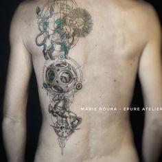 Spiritual Tattoo&Art sur Instagram: Projet personnel super interessant : la boule de Canton/puzzle ball. Blandine revient 2 and après pour…