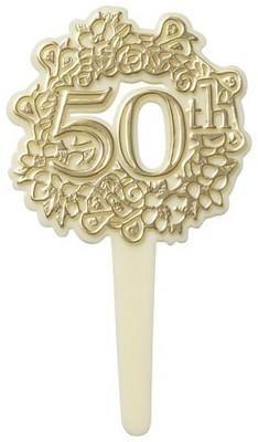 50th Anniversary Cupcake Picks