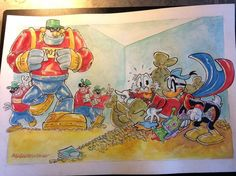 """Donald Duck - """"BB hard technology"""" - Pagina sciolta - Copia - Catawiki Illustrations And Posters, Donald Duck, Bb, Technology, Disney, Painting, Tech, Illustrations Posters, Painting Art"""