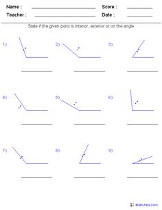 Triangles, identifying and finding missing angles