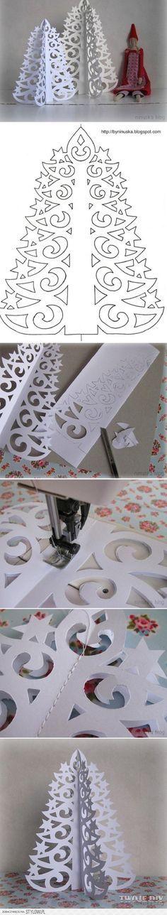 Árbol de navidad de papel fácil. Más