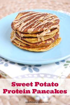 Sweet Potato Protein Pancakes - The Lean Green Bean – ENJI Daily #vegetarian #glutenfree