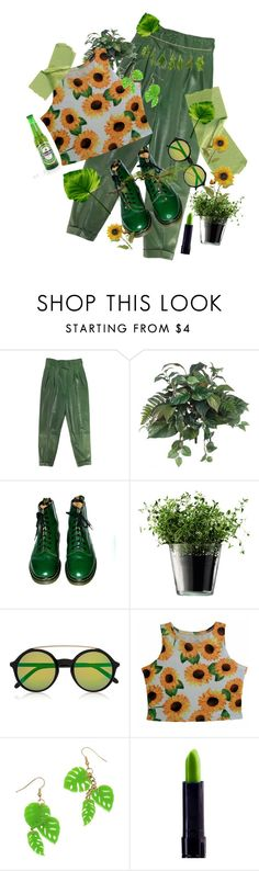 """mi jardín secreto"" by anny1984 ❤ liked on Polyvore featuring PEONY, Dr. Martens, LSA International and Gucci"
