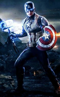 Captain America, Avengers: End Game- wait! That is a toy isnt it. oh well, still looks cool Iron Man Avengers, Marvel Avengers, Marvel Fanart, Marvel Comics Superheroes, Marvel Films, Marvel Characters, Marvel Heroes, Fictional Characters, Black Panther Marvel