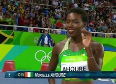Ivorian Sprinter Murielle Ahouré Photos: Getty Images