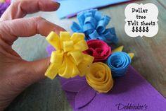 Learn how to make felt flowers - Debbiedoo's