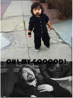 The.cutest.thing.ever! A lil' Dave Grohl. I'm sure the rest of the lil' Foo Fighters were nearby. ]