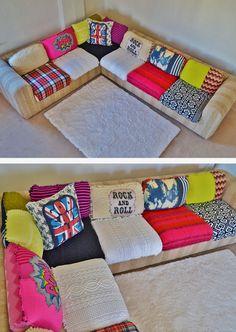 No Autographs Pleez….. by JIPSI BoHO // luxurious and fun sectional sofa