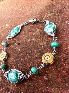 Green Lace Agate-- Bullet Jewelry Bracelet