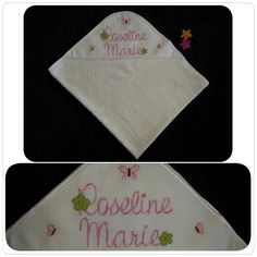 Personalized Hooded Towel: Spring is in the air!!! Picture your baby all wrapped up in this delicate towel made of a soft terry fabric. #BabyEssentials #BabyGifts #BabyShowerGifts #HoodedTowel #Handmade #Baby #Bebe #Spring