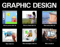 What People Think Graphic Designers Do (Image: http://monkeybuddha.blogspot.com/2012/03/what-people-think-graphic-designers-do.html)