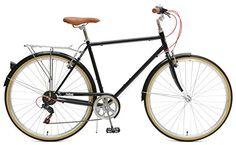 Critical Cycles Beaumont-7 Seven Speed Men's Urban City Commuter Bike, Black, 54cm (Medium)