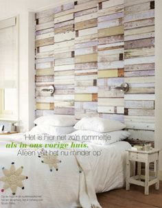 Studio Ditte Scrapwood wallpaper white, VT Wonen, August 2007